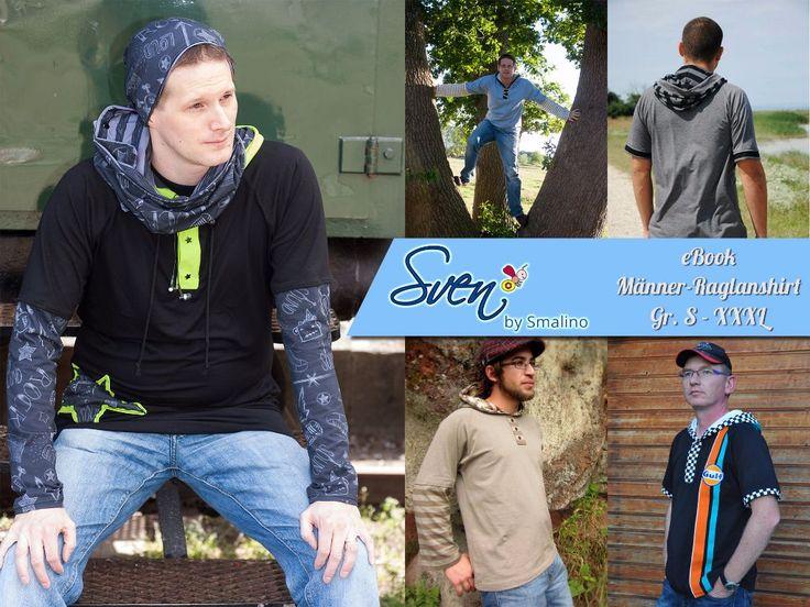 Sven   Gr S - XXXL    Raglanshirt in verschiedenen Ausführungen - T-Shirt oder Langarm-Variante, mit Kapuze oder ohne oder auch mit Knopfleiste - Sven bietet für alle Männer etwas.   Smalino