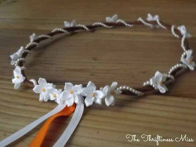 how to make floral and ribbon crown - Google Search