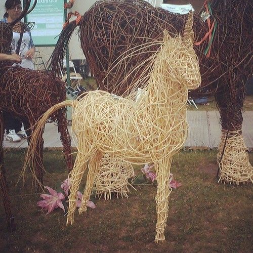 #wicker #unicorn #at #tatton #flower #show #magical #horse #white #amazing #garden #wood #likeforlike #likeforfollow - @amber_boo10
