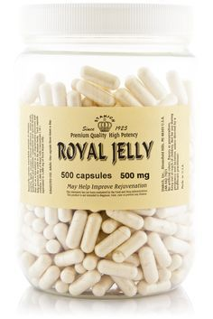 Stakich Royal Jelly capsules are 100% pure Royal Jelly concentrate. Our Royal Jelly Capsules contain the richest known source of vitamins, minerals, proteins, amino acids, enzymes and fats, as well as
