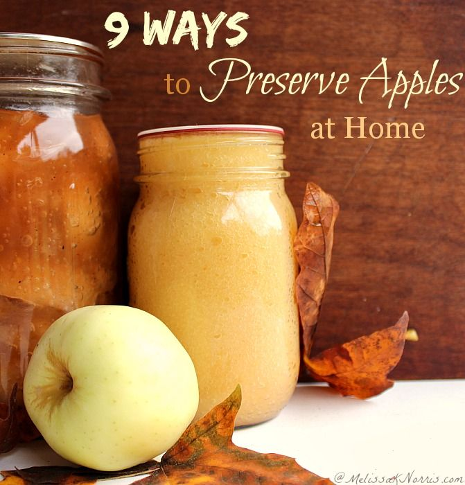 #motherearthproducts repin – 9 Ways to preserve apples at home. Frugal and easy ways to preserve apples for year round use and healthy homemade recipes, plus food storage. Read now to take advantage of the low apple prices and get your fall food storage in shape.