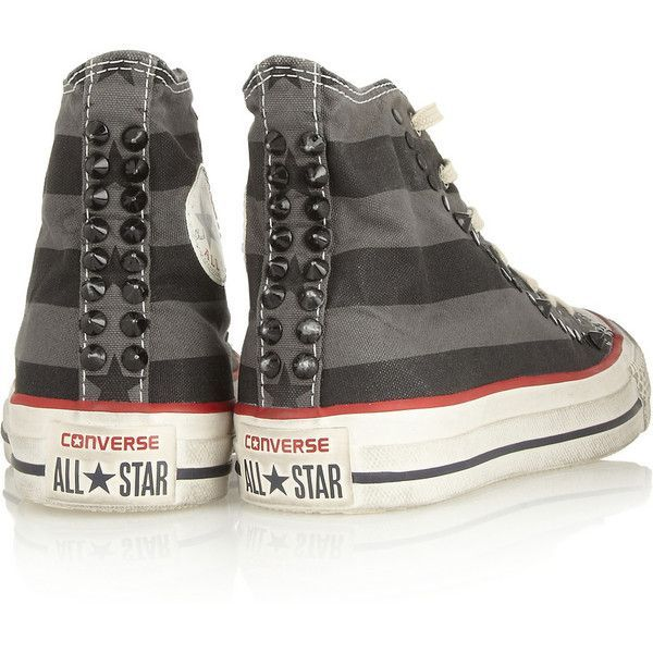 Converse Chuck Taylor studded canvas high top sneakers ($71