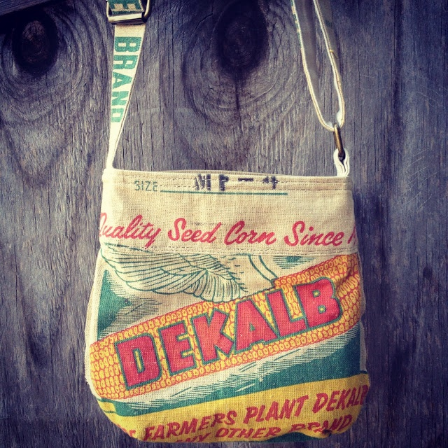 making a bag from an old sack
