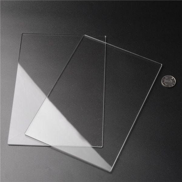 2pcs 225x155x3mm hojas de acrílico hojas de acrílico transparente corte talla placas