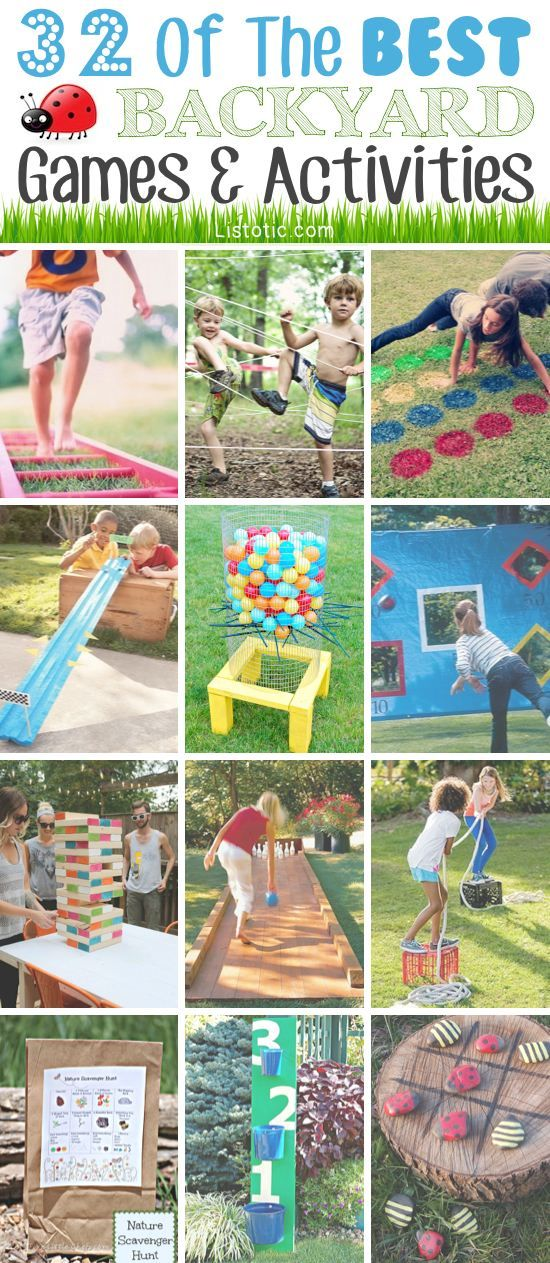 32 of the best DIY backyard games and activities. Something needs to keep the kids occupied this summer!