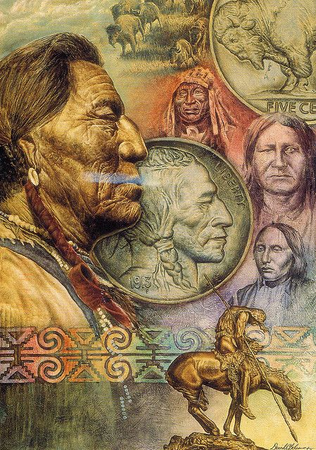 Indian head nickel w/portrait