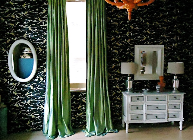 Fabric covered walls