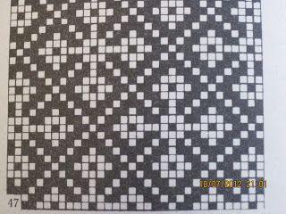 Mitten pattern chart from Halliste district, Estonia