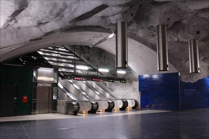Stockholm metro - Universitetet station - Stockholm - Sweden