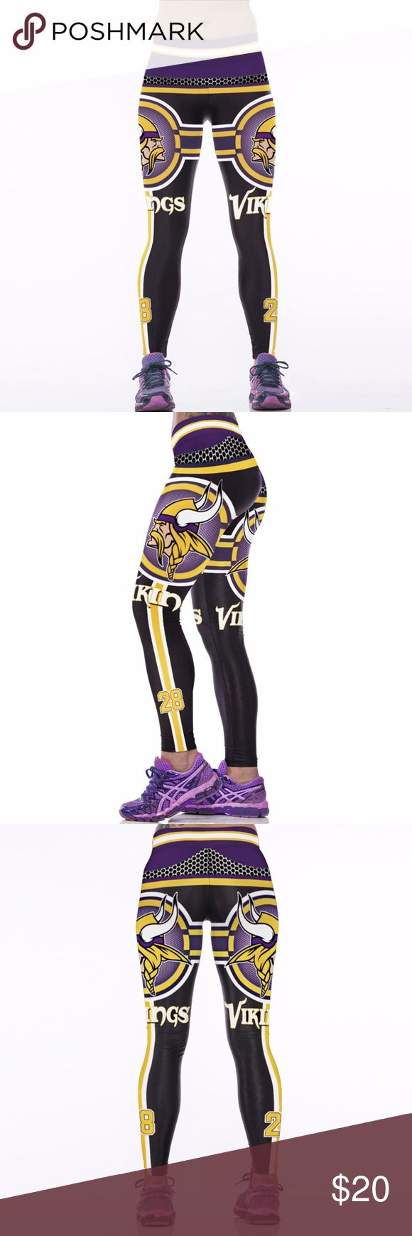 Minnesota Vikings Leggings Lightweight soft- quick dry breathable fabric Suitable for any kind of workout, gym, yoga, Zumba, cycling, etc. or casual wear High-quality construction with 6-thread double lock stitch seams Four-way Stretch Material: 82% Polyester, 18% Spandex Pants Leggings