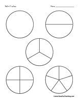 Fraction Circles: Use these fraction circles to practice learning fractions. Cut them out, use them in a center, or color them in.