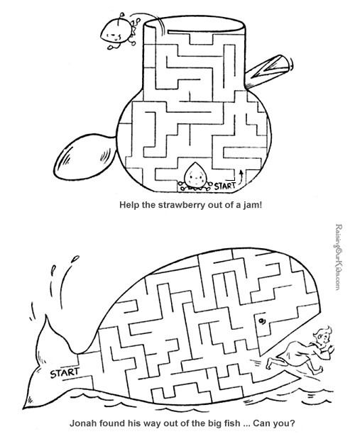 Printable mazes for kids - 40+ Free! (place in folder with sheet protector and use a dry-erase marker!)