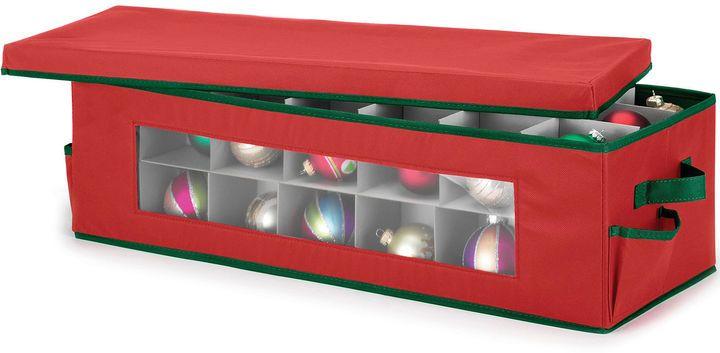 WHITMOR Whitmor Red & Green Ornament Storage Box