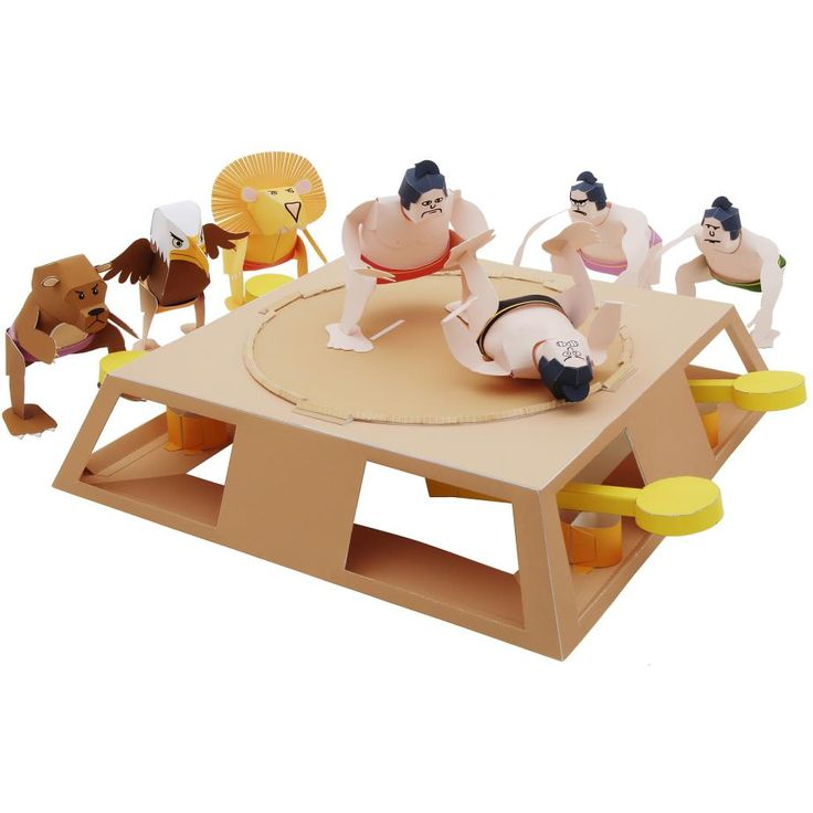 Download a Sumo wrestling game Play papercraft model from Canon Creative Park. The site is full of interesting content, like Paper Craft and Scrapbook, so you're sure to find something you like. Have fun