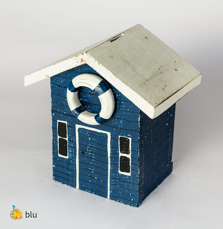 Salvadanaio casetta nautica    http://www.solohechoamano.it/store/oggettistica-regalo-casa/contenitori-scatole-e-salvadanai/salvadanaio.html