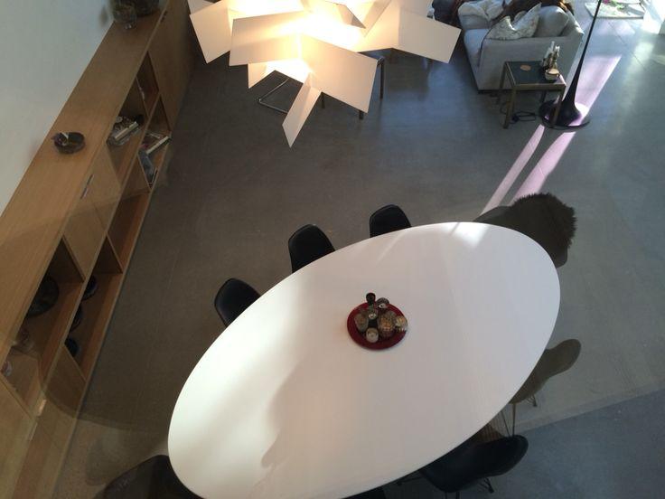 Saarinen Table finally arrived. Big Bang light