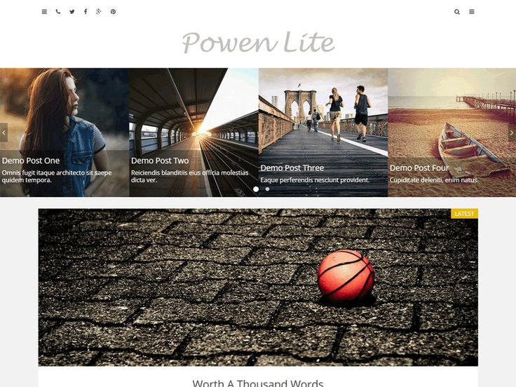 Powen Lite — Free WordPress Themes