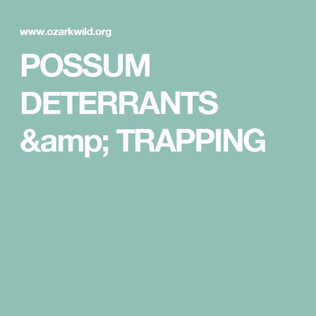 POSSUM DETERRANTS & TRAPPING