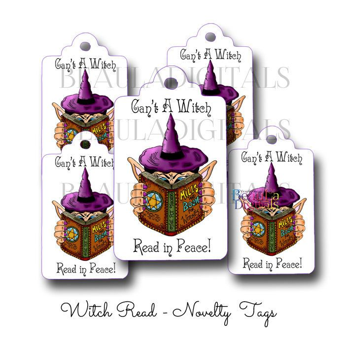 50 Witch Read - Novelty Swing Tag - Paper Product - Printed Material
