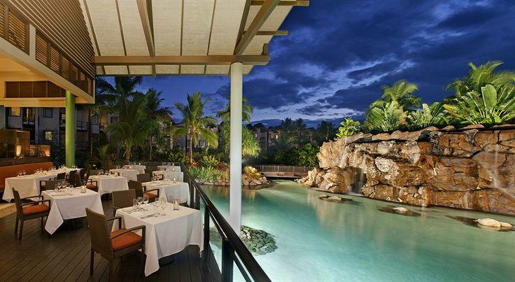 Restaurante con vistas al Lagoon, en Likuliku.