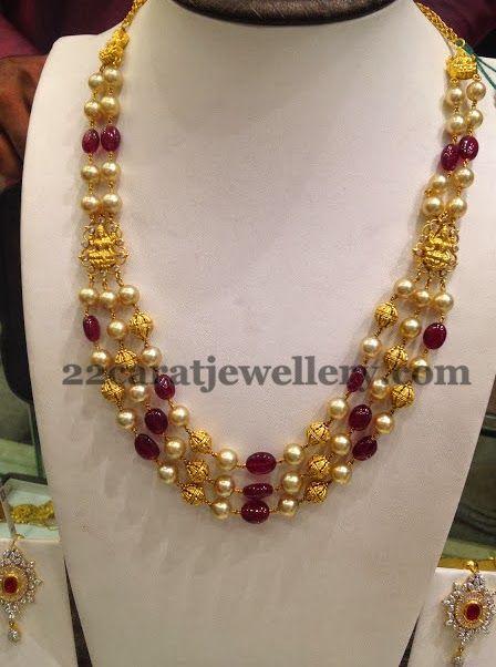 Multiple Strings Lakshmi Trendy Necklace | Jewellery Designs