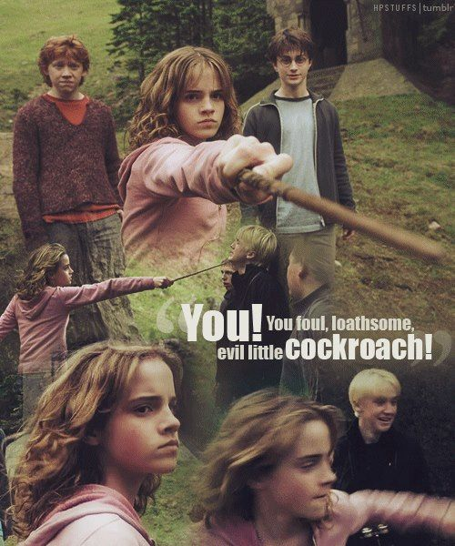 Favorite line between Hermione and Draco second only to what she does next :)