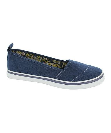 Take a look at this Navy Jennifer Slip-On Shoe by Daniel Green on