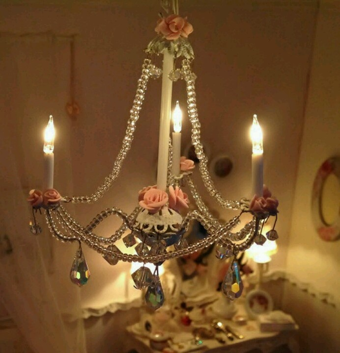 Dollhouse Chandelier Tutorial: 605 Best Miniature Lamps Images On Pinterest