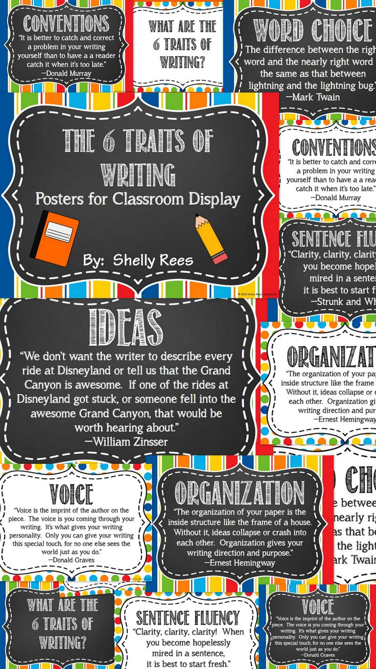 6 writing traits Essay rubric 6+1 trait writing model  writing is organized flow & rhythm (sentence fluency) all sentences sound natural and are easy-on-the-ear when read aloud.