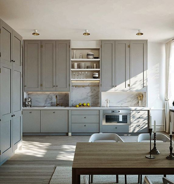 Warm kitchen - traditional and contemporary...