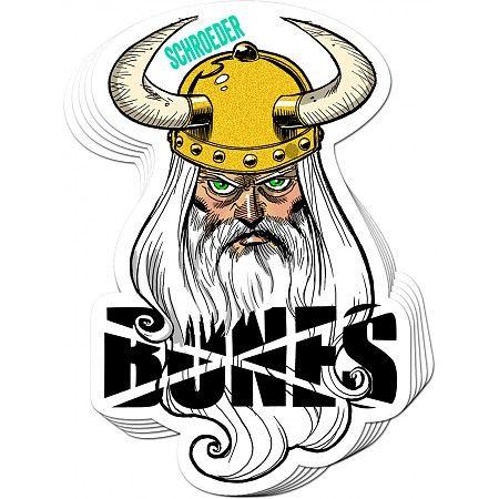 BONES WHEELS Ben Schroeder Viking Sticker