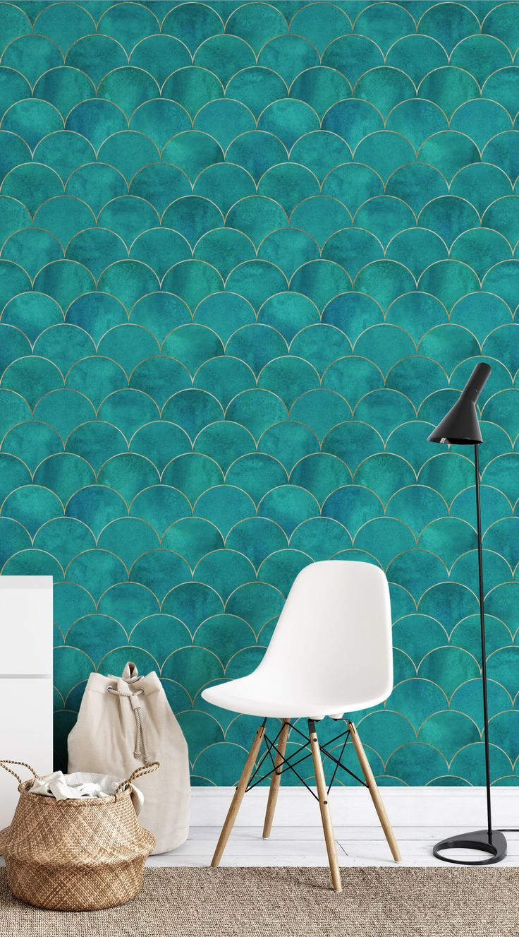 Removable Wallpaper Peel And Stick Wallpaper Home Decor Wall Etsy Geometric Wallpaper Home Geometric Wallpaper Peel And Stick Home Decor