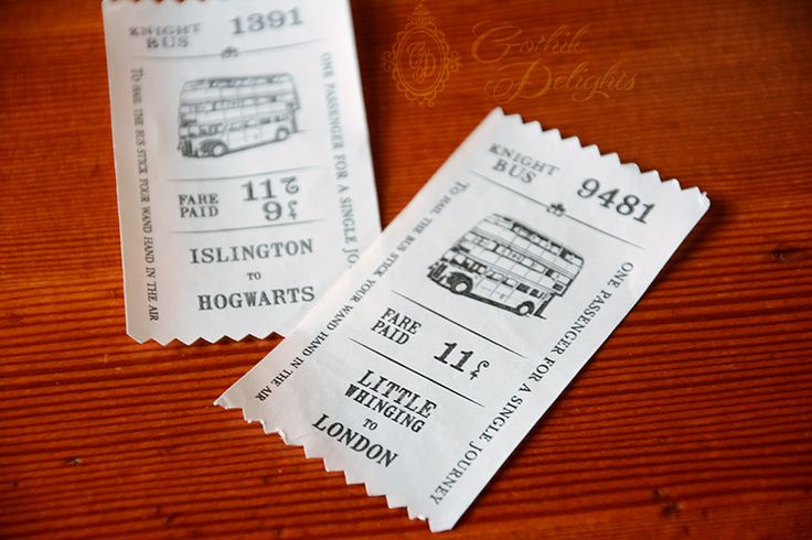 Ticket for the Knight Bus