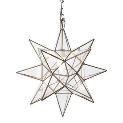 we have one of these hanging above our back porch. except the glass is lined w a mirror finsh.  it casts a great glow!