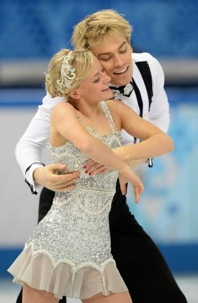 Penny Coomes and Nicholas Buckland from Great Britain at the 2014 Winter Olympics at Sochi, Russia, during the short dance segment.