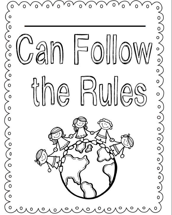 Follow The Rules Coloring Sheet Coloring Pages