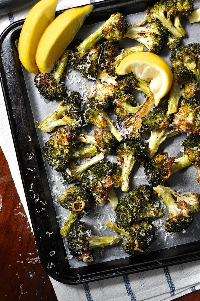 The best broccoli you will ever have! Roasted with garlic, olive oil, lemon and parmesan. So simple...it's like MAGIC!
