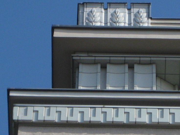 Hermann Henselmann, Hochhaus an der Weberwiese, 1951-52, detail