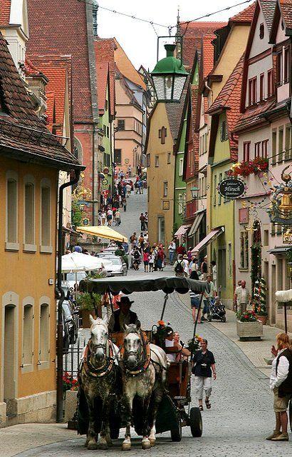 Rothenburg ob der Tauber, Bavaria, Germany   Flickr - by L.Clark Photography