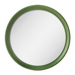 IKEA - СТАБЕКК, Зеркало, зеленый, , Массив дерева – прочный натуральный материал.Подходит для использования в большинстве помещений. Протестировано и одобрено для использования в ванной.Специальная пленка защитит от осколков, если стекло разобьется.