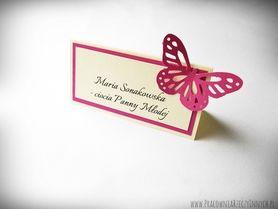 Kolorowe winietki z ażurowymi motylkami /BUTTERFLY/