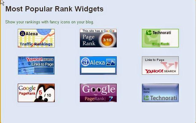Cara Memasang Rank Widget di Blog