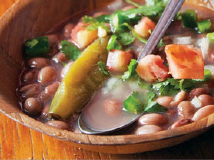 Stewed Beans With Pico de Gallo (Frijoles de la Olla)