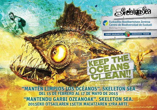 """Exposición de Skeleton Sea """"Manten limpios los océanos"""" en el Centro de Biodiversidad de Euskadi del 15 de febrero al 17 de mayo"""