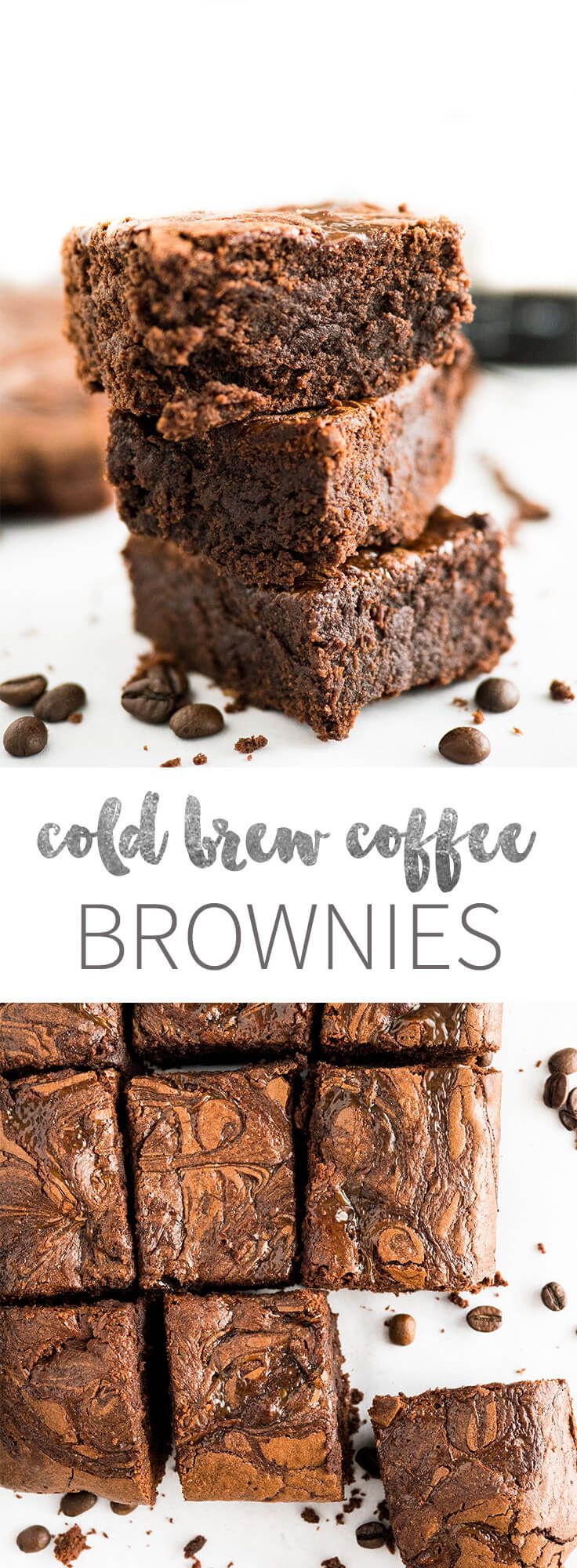 Cold Brew Coffee Brownies are rich, super fudgy, and made with cold brew coffee which takes the chocolate flavor to a new level! These delicious brownies satisfy all your caffeine and chocolate cravings.