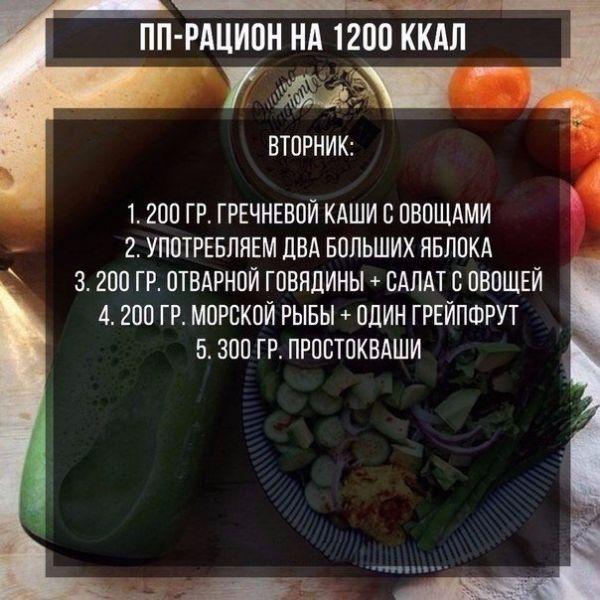 Рацион Для Похудения 1200. Меню на 1200 ккал с рецептами на неделю из простых продуктов