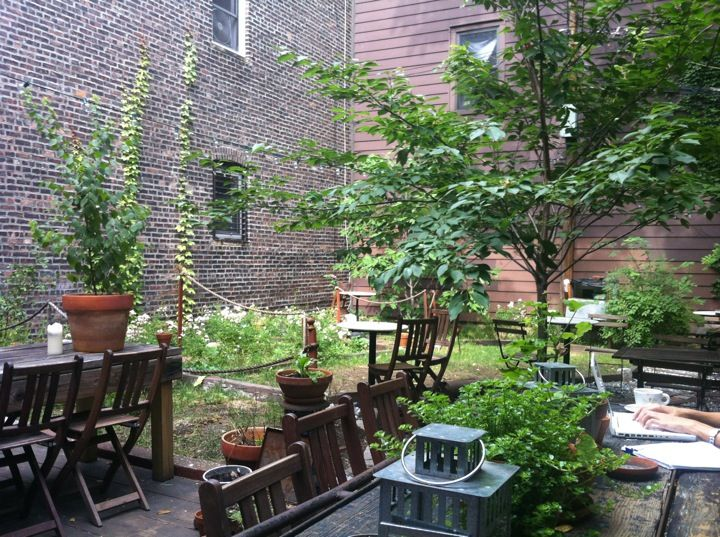 images about NYC Best Coffee Shop Gardens on