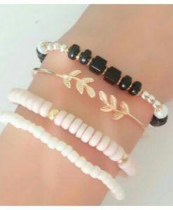 Bracelets feuille or 2017