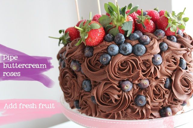 Fruit Chocolate Cake Images : Fresh Fruit Chocolate Cake icing4 Pinterest