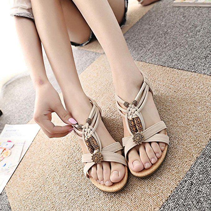 a49e5b832d1c5 Amazon.com: Summer Sandals,Boomboom 2018 Casual Women Young Girls ...